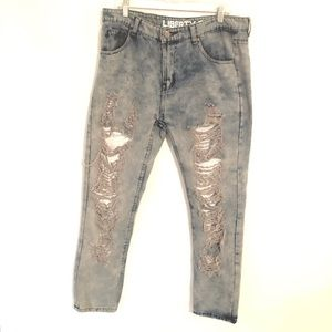 Liberty Square Distressed Men's Jeans Size 36